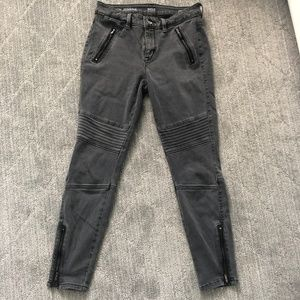 black fashion jeggings